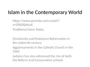 Islam in the Contemporary World