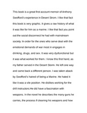 Essay on Desert Storm