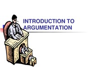 INTRODUCTION TO ARGUMENTATION