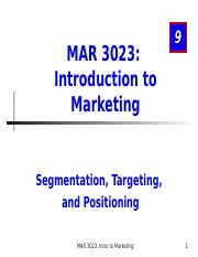 MAR3023_Chapter 9_Segmentation.ppt