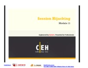 CEHv7 Module 11 Session Hijacking