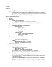 MGMT 4160_62 Exam 1 Study Guide