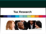 20.) Tax Research
