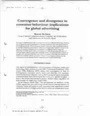 Convengence and Divergence in Consumer Behavior Implication for Global Advertising.PDF