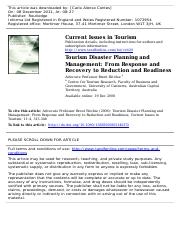 Tourism Disaster Planning and management.pdf