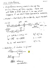 ECE 342 Interference Notes