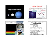 801-Detection of Exoplanets