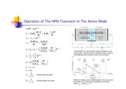 Transisor Operation in Active Mode
