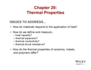 Chapter 20 - Thermal Properties