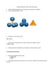 Mineralogy Silicates Study Guide