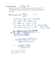 In Class Exercise #1 - Permeability Example