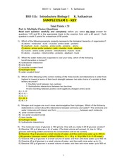 BIO311c-AnswerKey-SampleExam1-KSathasivan-Spring2014