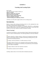 Lesson04Learning&LearningStyles