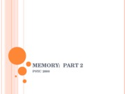 Psych 2000-Memory-Modules 29-30