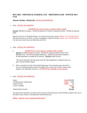 BUS 168A - Midterm PART 2 SOLUTIONS - Winter 2014