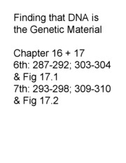 Lecture 29 Genes are DNA slides