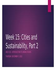 Week 15_ Cities and Sustainability.pptx