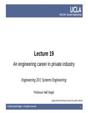 UCLA ENG 201 course  -- lecture 19 -- an engineering career in private industry -- Siegel.pptx