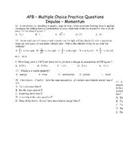 PHY107 - Multiple Choice Impulse Momentum
