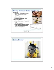 Macroeconomics Week 7 Lecture Slides