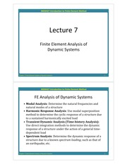 MEM427 Lecture 7 Dynamic Analysis_new