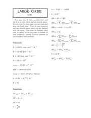 CH 301 Exam 3 2014-solutions