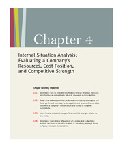 Essentials of Strategic Management (Gamble & Thompson) 2E Chapter 4