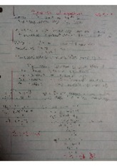 Algebra notes System of Equations