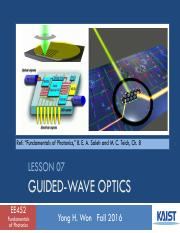 Lesson_07_2016f_Guided Wave Optics