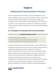 Chapter 6_Interpersonal Communication Processes