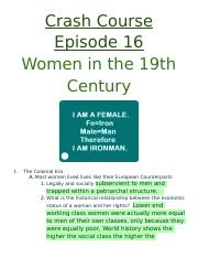 16_  Women in the 19th Century.docx
