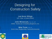 Designing for construction saftey