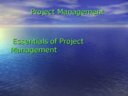1. Essentials of PM-Project Initiation