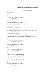 ELEMENTRY DIFFERENTIAL EQUATIONS 4.4