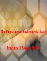 Bee Population An Environmental Issue v1