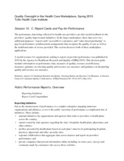Quality Oversight in Health Care Marketing Notes 13