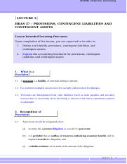 Corporate Accounting-L5-HKAS37-Provision, Contingent Liabilities and Contingent Assets-Notes.doc