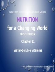 11 Water Soluble Vitamins Chapter 11
