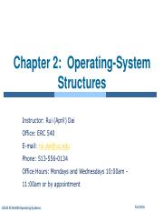 ch2 Operating-system structures