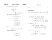 Final Exam Fall 2010 Solution on Calculus 1 with Algebra