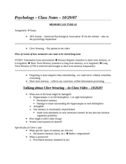 Class Notes - 10-29-07