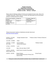 PEDS Clinical Frontloading Day _October 2014_Final