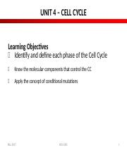 4.2. Unit 4 - Cell Cycle Slides.doc
