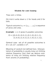 Stat 870 Probability Modelling Notes