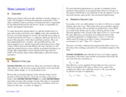 Notes -- Lectures 7 and 8