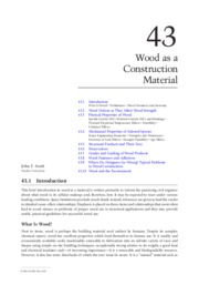 Wood as a Construction Material