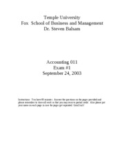 2003 Fall Accounting_011_exam_1___Fall_2003___Answers