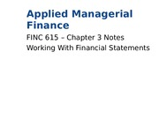 FINC 615 Chapter 3 Notes