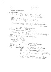 Worksheet 6 Solution on Calculus 2