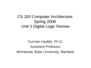 CS 320 Unit 3 Review of Digital Logic